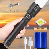 900000LM XHP90.2 Taschenlampe LED Taktisches Arbeitslicht wiederaufladbare 26650