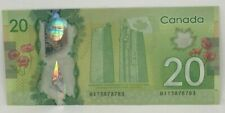 Canadian 2012 $20 Radar Note Frontiers issue Serial # BIT3878783