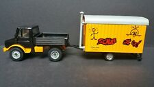 F.2)Siku 2533 Unimog mit Bauwagen(aus Metal) Meyer&Co Tiefbau