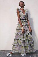 Giambattista Valli X H&M HM Long Tiered Dress Floral UK 4 6 8 10 12 34 36 38 40