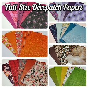 Decopatch, Decoupage Paper Collection Packs *** 5x FULL SIZE SHEETS ***