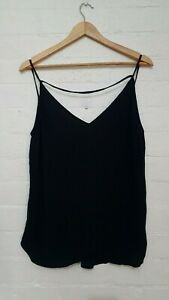 BARDOT Designer Label Womens Black Loose Relaxed A-line Blouse Top, Size 12