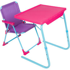 Table Mate 4 Kids Original Plastic Folding Table and Chair Set (Pink/Purple)