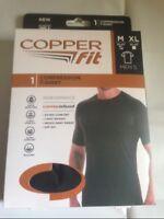 2----NEW COPPER FIT COMPRESSION T-SHIRT WICK AWAY SWEAT BLACK - L/XL 46/48 -NEW