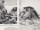 WWII German Large(9.25x7.25) Press Photo Image- MG 34- SMG MP40- Bunker- Russian