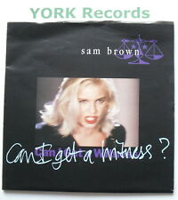 "SAM BROWN - Can I Get A Witness *POSTER SLEEVE* - Ex Con 7"" Single A&M AM 509"