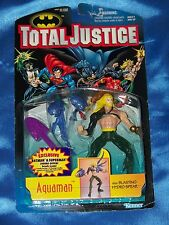 "AQUAMAN: 5"" Action Figure ( Black Armor) w Blasting Hydro Spear, TOTAL JUSTICE!"