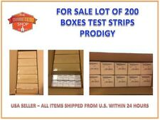 LOT 200 BOXES PRODIGY NO CODING BLOOD GLUCOSE TEST STRIPS EXPIRATION 08/2019