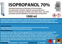 1L 1000ml Isopropanol 70% Isopropylalkohol Desinfektion Cleaner Reiniger