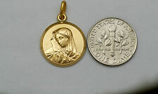 10K solid gold Virgin Mary (Madonna) charm / pendant