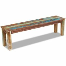 vidaXL Bench Seat Solid Reclaimed Wood 160x35x46 Cm Living Room Hall Lounge