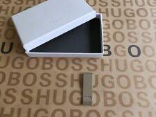 Nuevo Hugo Boss Acero notas de color Plata Clip de Dinero Cartera