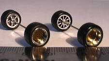 HOT WHEELS BBS TYPE WHEELS F SMALL CHROME GOLD FACE RUBBER TIRES REAL RIDERS NEW