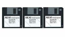 Akai S5000/S6000 Set of Three Floppy Disks Sound FX EV11031