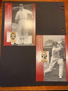 1997 -  AUSTRALIAN LEGENDS (Sir Donald Bradman)  - 2v Maxi / Maximum Card set