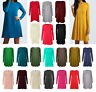 Women Ladies Long Sleeve Swing Dress Flared A Line Skater Dress Top Size 8-26