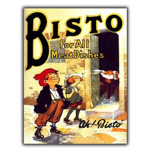 SIGN METAL WALL PLAQUE BISTO gravy Vintage Retro KITCHEN Advert Poster art print