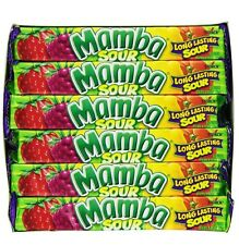 Mamba Sour Fruit Flavored Chewy Candy 24 Packs Of 18 Pieces 432 Pieces Total