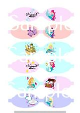 Mermaids hair bow making fabric simply cut out template bows canvas printed