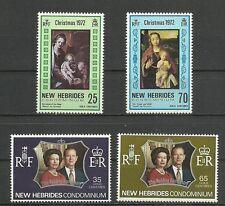 1972 Franco-British Condominium New Hebrides 4 mint stamps* . (4074)