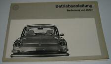 Betriebsanleitung VW 1600 Typ 3 Bedienungsanleitung Handbuch August 1972!