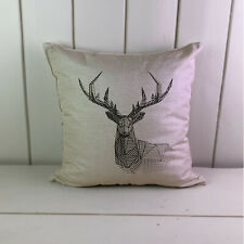 Polygon Stag Deer Linen Cushions Cover Sofa Throw Pillow Case