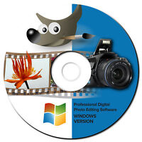 NEW 2019 Professional Photo Image Editing Software-GIMP-with Photo shop Guide-CD