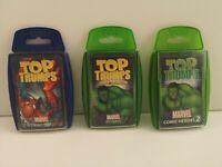 Top Trumps Card Game x 3 - Marvel Comic Heroes (555)