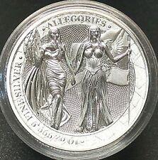 "Germania 2019 50 Mark The Allegories ""Germania & Columbia"" 10 oz Silver Coin."