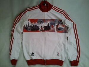 """VINTAGE RARE ADIDAS CHICAGO BULLS """"CITY EDITION"""" WARM UP SHOOTING JERSEY SIZE S"""