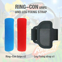 Adjustable Leg Fixing Strap+ 2 Ring-Con Grips For Nintendo Switch Ring Fit