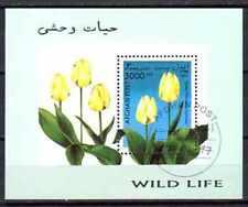 Fleurs Afghanistan (105) bloc oblitéré