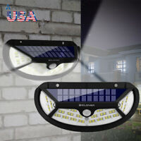 100 LED Solar Security Light PIR Motion Sensor Waterproof Garden Porch Wall Lamp