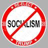 Donald Trump 2020 No Socialism 5'' Sticker Re-Elect Trump 2020 Car Truck Window