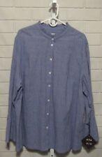 Women's Ava &Via Blouse / Shirt Button Up Long Sleeve Textured 4X (28W / 30W )