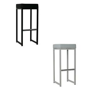 Barhocker 2er Set Kubic, Barstuhl in schwarz oder weiß, Kunstleder Stahlrohr NEU