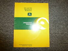 John Deere 534 544 Agricultural Bulldozer Dozer Owner Operator Manual OMGA11372