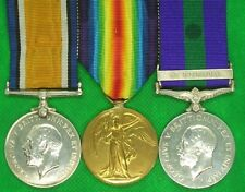 PAIR OF WW1 MEDALS WITH GSM SOUTH PERSIA,CAPTAIN GREENWOOD.W.RID.R & INDIAN ARMY