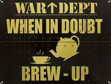 War DEPT BREW UP Té Café DINER cocina antigua GARAJE ORIGINAL Imán de Nevera