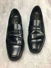 Florsheim FLS Loafers Black Leather Dress Shoes Mens Size 8.5 D