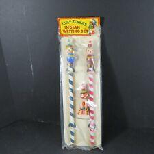 Vintage Chief Tonka's Indian Writing Set (Pencils & Eraser) - Souvenir Gift