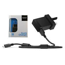 SONY UNIVERSAL QUICK PORTABLE UK MAINS PHONE CHARGER PLUG MICRO USB CABLE EP881