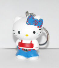 Hello Kitty Blue Bow Punk Outfit 2 inch Plastic Figurine Key Chain Figure Keycha