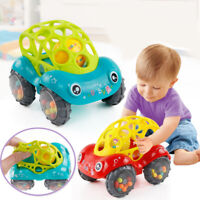 Baby Toddler Rattle Toy Cartoon Flexible Running Car Mobile Infant Handbell Kids