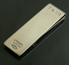 Authentic Tiffany & Co. Money clip wallet 1837 Sterling Silver #9340