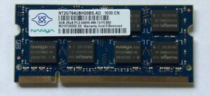 Nanya 2GB PC2-6400S DDR3 SODIMM NT2GT64U8HG0BS-AD