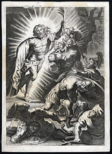 Antique Print-RESSURECTION-JESUS-MARTYR'S PALM-CAVE-SOLDIER-UNCONSCIOUS-c. 1625