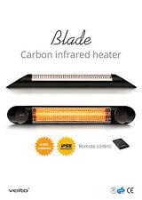 VEITO BLADE S 2500 Infrared Patio Heater (IP55) Indoor and Outdoor Black