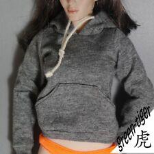 1:6 Scale ace Female figure parts - Dark Grey hoody hoodie Street style