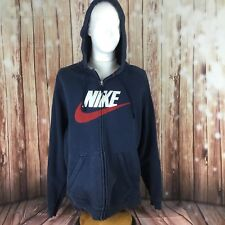 EUC Men's Nike Galaxy Spell Out Swoosh Blue Hoodie Sweatshirt 2XL A17